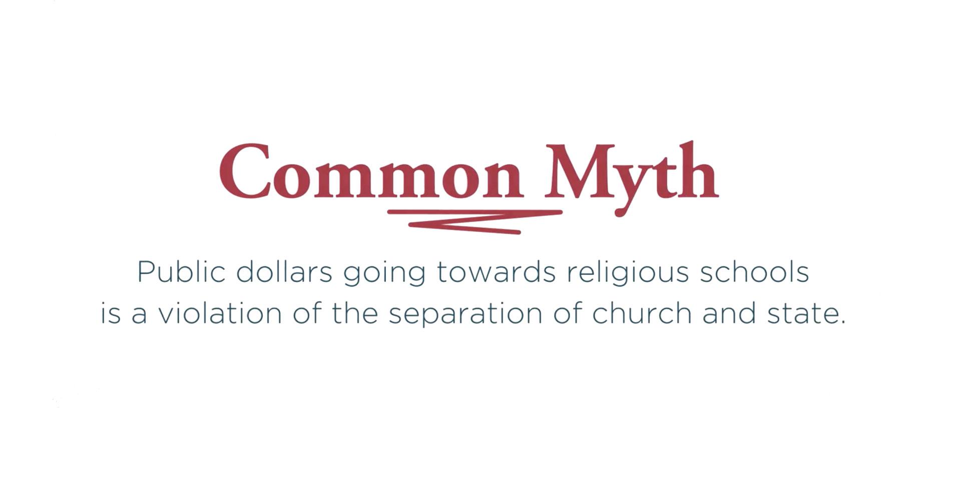 Common myth graphic religious schools